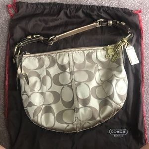 Coach Gold Hobo Bag + Dustcover